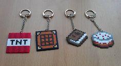 Minecraft Keyring Hama mini beads by PixelBeadPictures