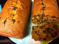 The best Chocolate Chip Pumpkin Bread. Even better than Great Harvest!