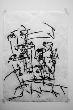 Joe howlett 'Abstraction' - Charcoal on paper - 2011