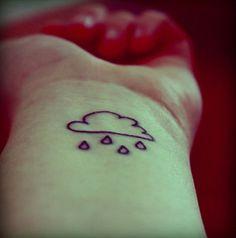cute-cloud-tattoo - 40 Awesome Cloud Tattoo Designs | Art and Design