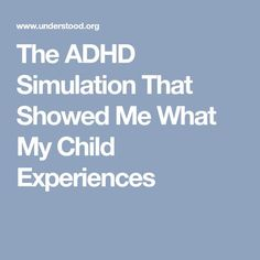 """Ever wonder what ADHD is like for your child? Hear from a mom who tried an ADHD simulation that finally helped her """"get"""" her child's struggles. Adhd Odd, Adhd And Autism, Autism Parenting, Parenting Memes, What Is Adhd, Adhd Signs, Adhd Brain, Test Anxiety, Learning"""