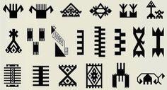 Hand, Finger, Comb - 片手の指の数、5が、邪悪な眼からのお守りとして使用されています。アナトリアでは、豊穣と母性の概念は、誕生と非常に近い意味があります。この関係はキュベレーや処女マリアにその源をみることができます。イスラム教時代、「マザーファトマ」や「マザーファディメ」の名前で象徴化されていました。「マザーファディメの手」と呼ばれるモチーフはアナトリアの織物で幅広く使われています。手のモチーフは、魔力や邪悪な眼に対抗するものとして使用されています。同様のモチーフがカタルヒュユクの祭壇の壁から、ハチラーから見つかった鉢にあり、この模様がかなり前から使用されていたことがわかります。櫛のモチーフは、主に結婚と出産に関係しています。結婚願望を表し、また邪悪な眼から誕生を結婚を守るために使用されます。