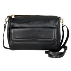 Karla Hanson - Black Crossbody Bag - $99.00/each This Ladies Fashion Crossbody Bag is made from cow leather with a golden finish, approximately 24 x 6.5 x 16.5-65 cm. Presented by www.ecomcreator.com Black Crossbody, Leather Crossbody Bag, Leather Bag, Ladies Fashion, Womens Fashion, Black Cross Body Bag, Cow Leather, Bag Making, Lady