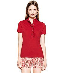 lidia POLO in acai red. Tory Burch...