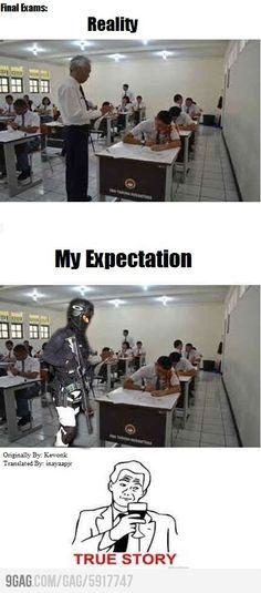 Teacher At Final Exams
