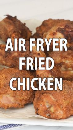 Perfectly seasoned incredibly tender fried chicken You d never guess this crispy Air Fryer Fried Chicken was made using a tiny fraction of the oil called for in traditional methods airfryerrecipes airfryer friedchicken chickenrecipes healthyrecipes Air Fryer Recipes Breakfast, Air Fryer Oven Recipes, Air Fryer Dinner Recipes, Airfryer Breakfast Recipes, Air Fryer Recipes Videos, Air Fryer Recipes Potatoes, Air Fryer Recipes Appetizers, Air Fryer Baked Potato, Air Fryer Fried Chicken