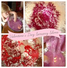 Sensory Slime for Valentine's Day? Why not let them feel how much you care :)