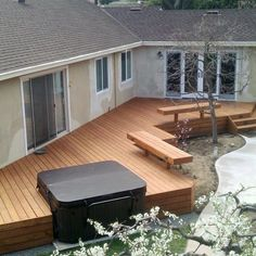 Top 80 Best Hot Tub Deck Ideas - Relaxing Backyard Designs Discover relaxing outdoor extensions of the home with the top 80 best hot tub deck ideas. Explore backyard designs made to enjoy year-round. Hot Tub Pergola, Hot Tub Backyard, Jacuzzi Outdoor, Backyard Pergola, Pergola Kits, Pergola Ideas, Backyard Landscaping, Whirlpool Deck, Sunken Hot Tub