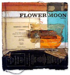 "crystalneubauer: "" Flower Moon Mixed Media Collage by Crystal Neubauer "" Collages, Collage Artists, Mixed Media Painting, Mixed Media Collage, Inspiration Artistique, Collage Design, Collage Ideas, Oil Mix, Assemblage"