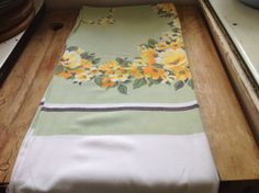 Vintage 1950's Yellow Roses on Dusky Green by Onmykitchentable, £25.00
