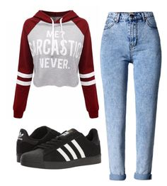 """Mota ❤"" by lara-ribeiro-i on Polyvore featuring WithChic and adidas"