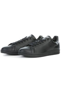 The Women's Stan Smith in Core Black and Night Metallic