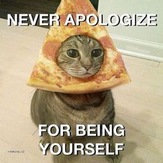 Never apologize for being yourself