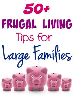 Tips for Large Families to Save Money Large List of Frugal Living Tips for Large Families - Large Families don't have to be expensive! But saving money with them is very unique! Here are 50 tips to help you make and save money! Living On A Budget, Frugal Living Tips, Frugal Tips, Ways To Save Money, Money Tips, Money Saving Tips, Money Hacks, Money Savers, Frugal Family