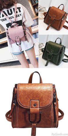 Elegant Magic Multi-function Leather Small Messenger Bag Shoulder Bag Mini Backpack #bag #Backpack