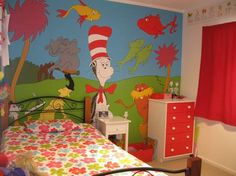 Dr. Suess themed bedroom