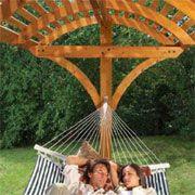 How To Build A Hammock Stand //theownerbuildernetwork.co/u9um ... Backyard Ideas Pergola Hammock on deck hammock ideas, bedroom hammock ideas, fire pit hammock ideas, garden hammock ideas,
