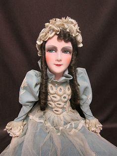 "All Original 29"" Silk Boudoir doll - very good condition"