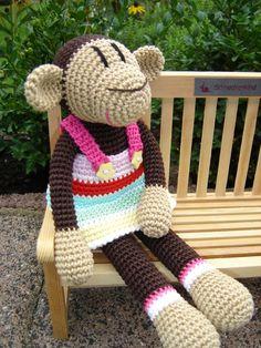Agneta the crochet Monkey ♥