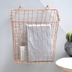 Wall Mounted Copper Basket
