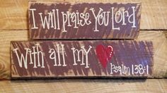Te alabo Señor con todo mi corazón por RustyNailandPaint en Etsy