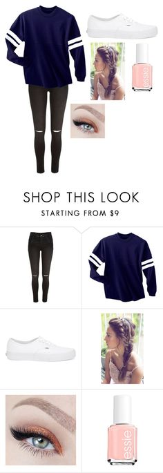 """""""Sorry for the inactivity / read the d (if you want)"""" by qveen-of-stars ❤ liked on Polyvore featuring River Island, Vans and Essie"""