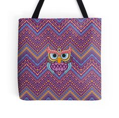 Ethnic Background With Cute Owl Character