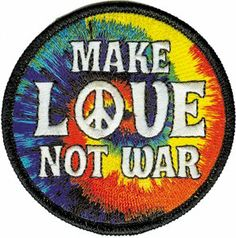 Amazon.com: Novelty Iron On Patch - Peace Signs - Make Love Not War Peace Sign Logo - Applique: Clothing