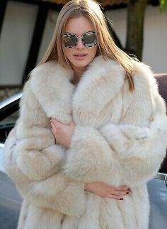 Picture 2 of 11 Sable Fur Coat, Long Fur Coat, White Fur Coat, Faux Fur Coats, Chinchilla Coat, Fur Coat Outfit, Fox Coat, Fabulous Furs, Fur Fashion