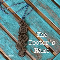 Doodlecraft: The Doctor's Name Pendant Necklace!