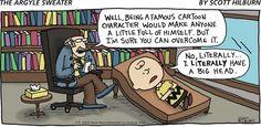 #CharlieBrown's therapist is a bit confused.   Read The Argyle Sweater #comics @ www.gocomics.com/theargylesweater/2015/01/18?utm_source=pinterest&utm_medium=socialmarketing&utm_campaign=social-pin-crossover-peanuts65   #GoComics #webcomic #Peanuts