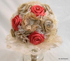 Hey, I found this really awesome Etsy listing at https://www.etsy.com/listing/207598708/wedding-bouquet-bridal-bouquet-fabric