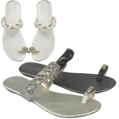 Flat Sandals Women Summer Girls Fancy Party Wedding Toe Post Beach Shoes