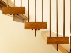 """Stairs. Check massing of treads. """"Whitehall Lane"""" in St. Helena, CA: residence by architects Dowling Studios"""