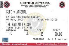 Sheffield United v Arsenal...