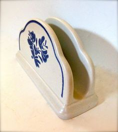 Pfaltzgraff Yorktowne Blue & White Napkin by TheDustyWingVintage