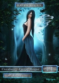 Faerie Rogue Token (Blue and Black 1/1) (Version 2)