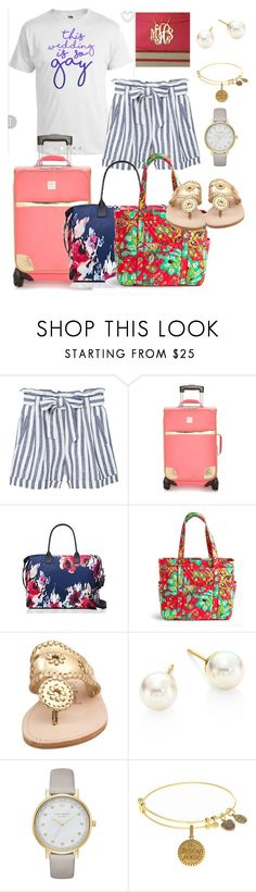 """CLT to DCA- Me"" by jporter2 ❤ liked on Polyvore featuring MANGO, New Directions, Kate Spade, Vera Bradley, Jack Rogers and Majorica"