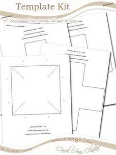 Exploding Box Card Template Kit - 5 sheet kit