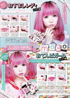 Japanese make up Lolita Makeup, Gyaru Makeup, Lolita Hair, Ulzzang Makeup, Anime Makeup, Kawaii Makeup, Goth Makeup, Beauty Makeup, Eye Makeup
