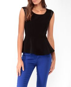 Sequined Peplum Top | FOREVER21 - 2027705217 $19.80