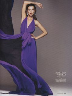 Gorgeous purple gown. A style that looks good on almost any body type.