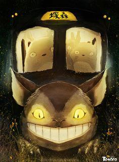 Tonari no Totoro Hayao Miyazaki, Cat Bus Totoro, Mei Totoro, Totoro Merchandise, Nausicaa, Le Vent Se Leve, Studio Ghibli Art, Cats Bus, Nerd Art