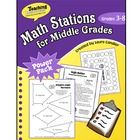 $ Math Stations for Middle Grades by Laura Candler is designed for grades 3 through 8. The resources in this ebook will make it easy for you to implement math stations or math centers in your own classroom. You'll find ready-to-use games and printables along with directions and classroom management strateges.