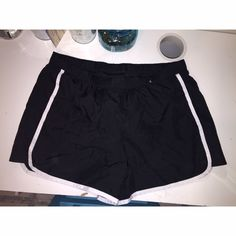 Adidas Track Shorts! Black Adidas track shorts with a built in liner, fits true to size.  Adidas Shorts