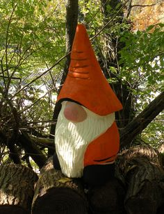 Gnome - Maple Chainsaw Carving.