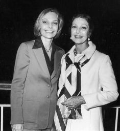 American actress Judy Lewis and her actress mother Loretta Young at an American Film Institute cocktail party held aboard the Pacific Princess cruise. Classic Hollywood, Old Hollywood, Judy Lewis, Ronald Colman, Loretta Young, Best Supporting Actor, Carole Lombard, Clark Gable, Child Actresses
