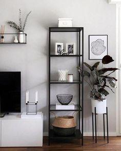 Ikea Living Room Storage, Ikea Living Room Furniture, Living Room Sofa, Living Room Decor, Small Apartment Living, Small Living Rooms, Living Room Designs, Small Apartments, Sala Grande