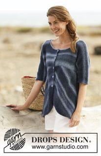 "Knitted DROPS jacket in garter st in ""Delight"". Size: S - XXXL. ~ DROPS Design"