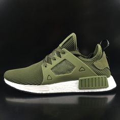 91d70111b8 Adidas Originals NMD XR1 S32217 clover jogging shoes olive green  lightweight cushioning running couple models